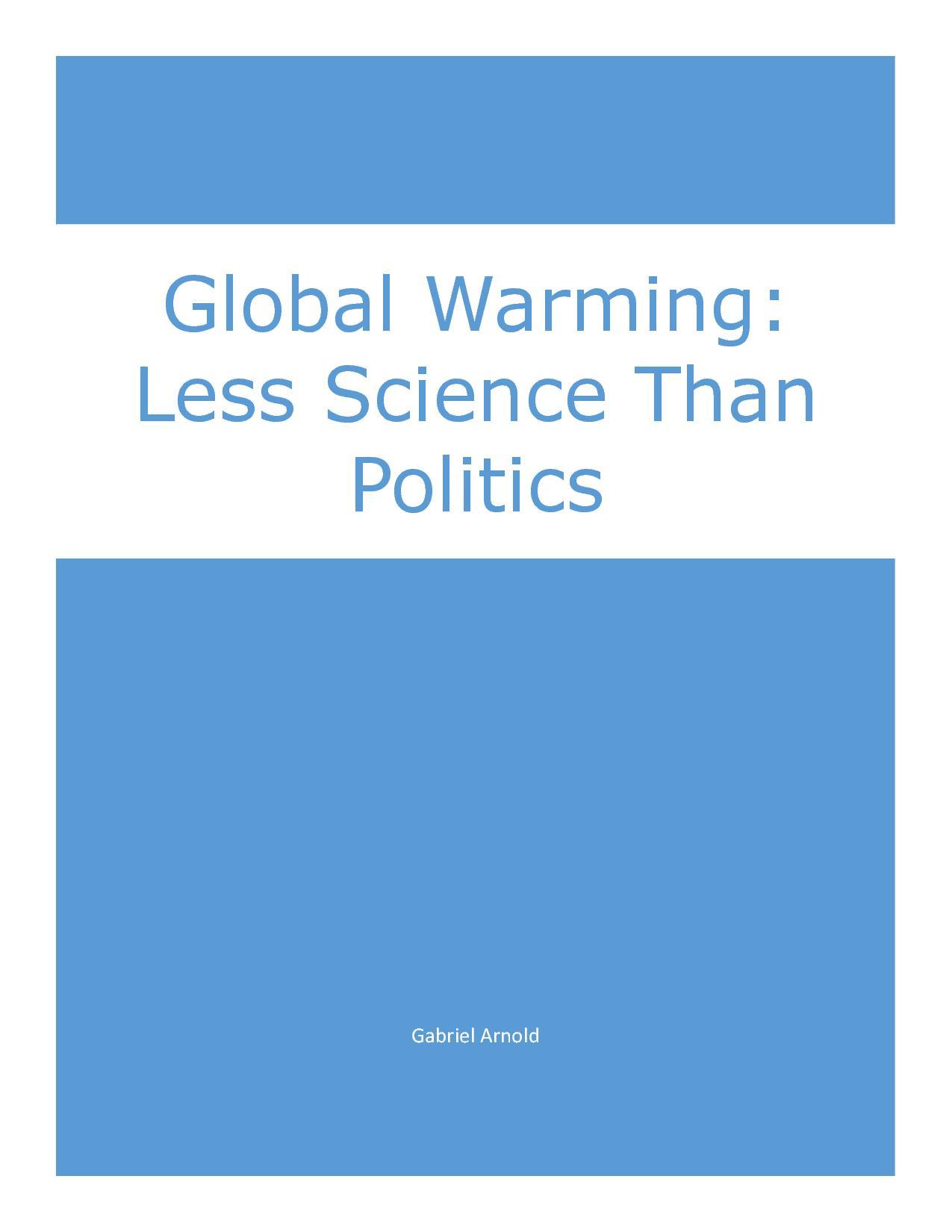 Custom Problem of Global Warming Essay