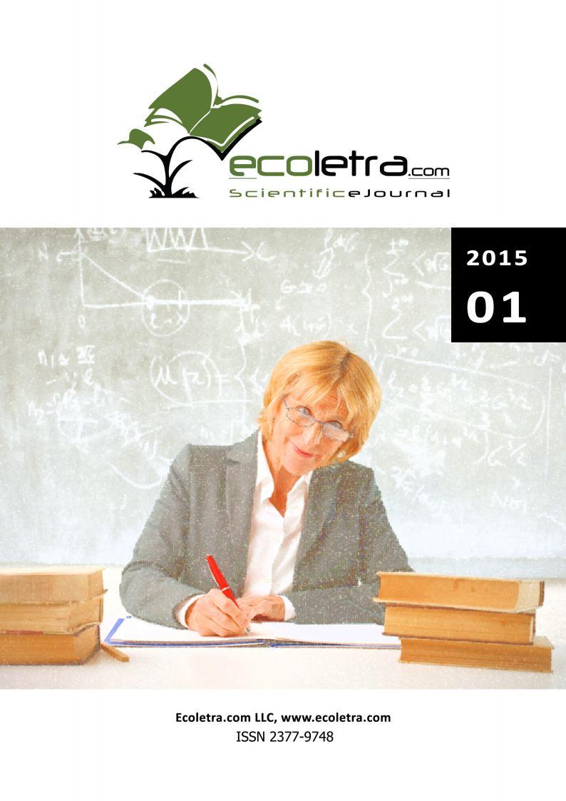 2015/ 01 - ECOLETRA.COM – SCIENTIFIC EJOURNAL