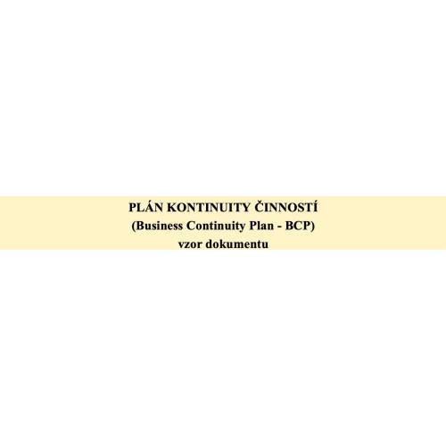 Plán kontinuity činností (BCP)